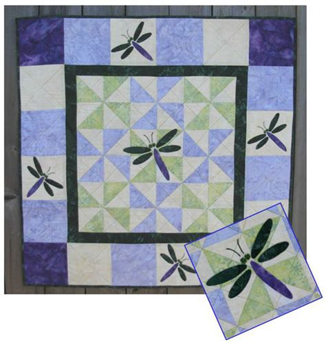 Dragonfly Patterns For Quilting by The Dragonfly Quilt Pattern Ptc 111 Advanced Beginner Wall Hanging
