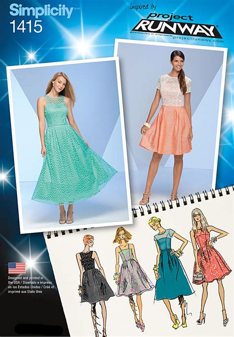 pattern review best patterns 2014 simplicity 1415 misses project runway special occasion