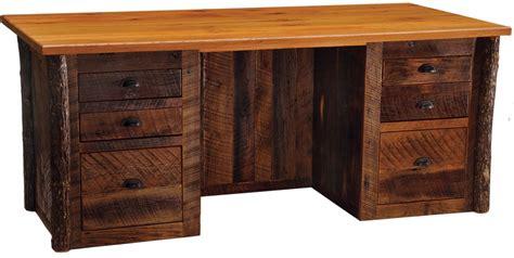barnwood executive desk lodge craft