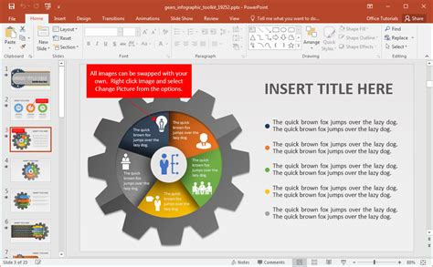 infographic templates for powerpoint animated gears infographic powerpoint template