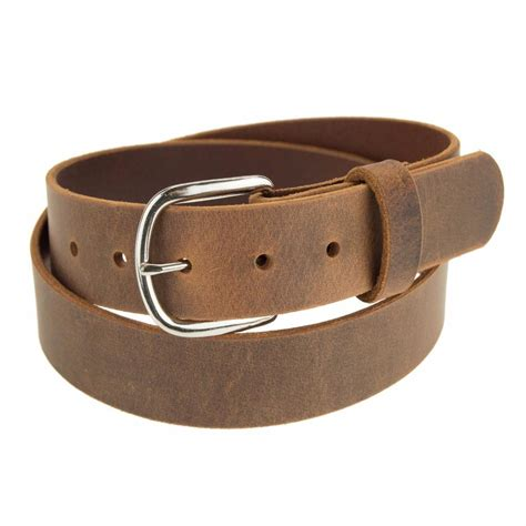 Handcrafted Leather Belt - genuine buffalo leather belt 1 1 2 quot wide amish handmade