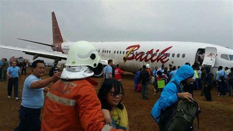 batik air accident pk lbo 737 900er runway excursion on landing