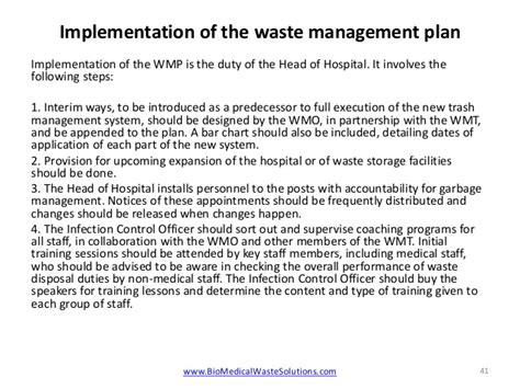 waste management strategy template biomedical waste management in hospitals 2014 pdf or ppt