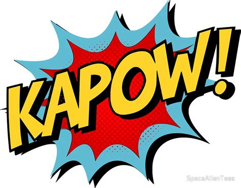 kapow poetry comix books quot kapow comic book quot stickers by spacealientees redbubble