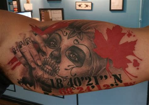 watercolor tattoo halifax day of the dead by chanuen flint divergence