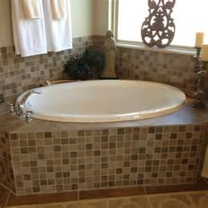 tile around tub bathroom