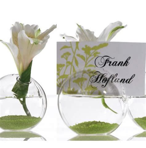 Glass Vase Place Card Holders 8 blossom glass name card holders 2 5 quot x 2