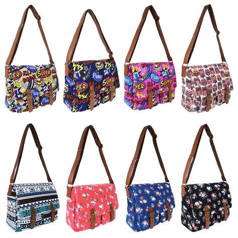 Satchel Cross Bag canvas shoulder satchel school cross