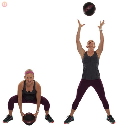 17 best medicine ball exercises build muscle and burn fat how to do medicine ball squat toss