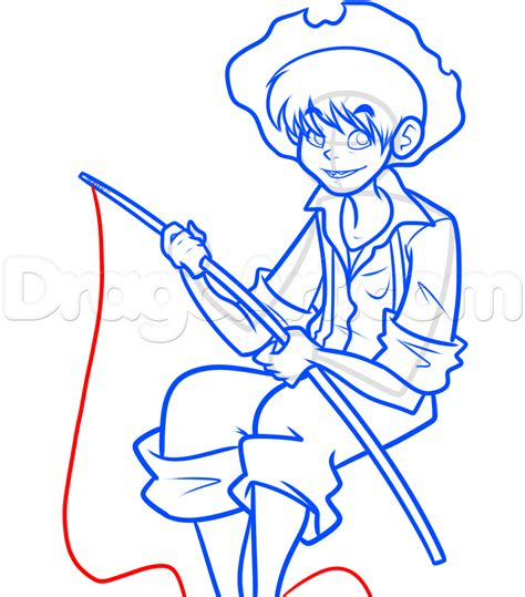 free how to draw how to draw tom sawyer step by step characters pop