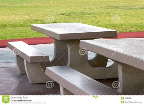 concrete picnic tables stock photo image of park cast