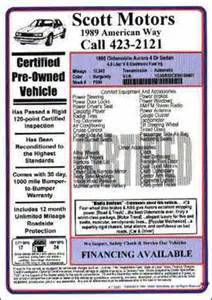 new car window sticker information window labels ds of south carolina leaders of the market
