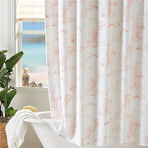 Coastal Living Pink Flamingo Shower Curtain Bed Bath