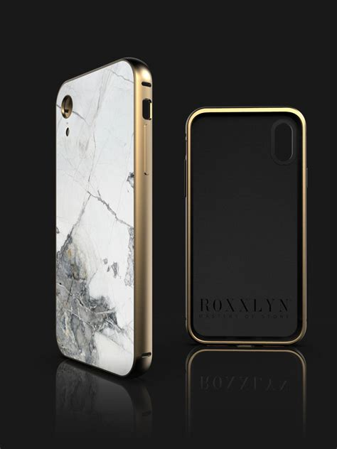 iphone marble case invisible grey roxxlyn