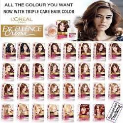 different l shades l oreal excellence creme care hair color