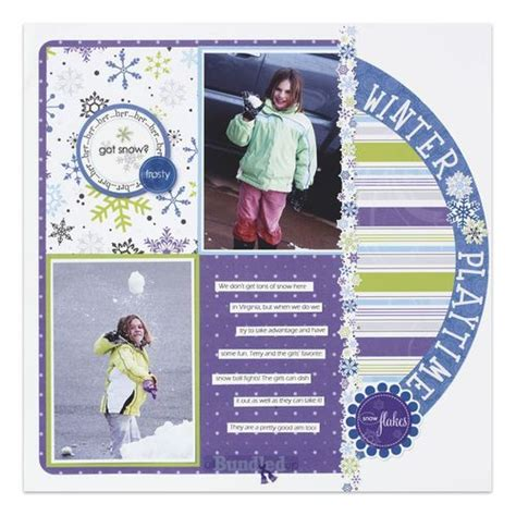 scrapbook layout software winter photo book digital scrapbook created with