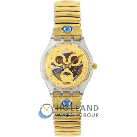swatch gn123 gn124 gold smile
