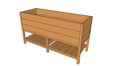 raised planter box plans myoutdoorplans