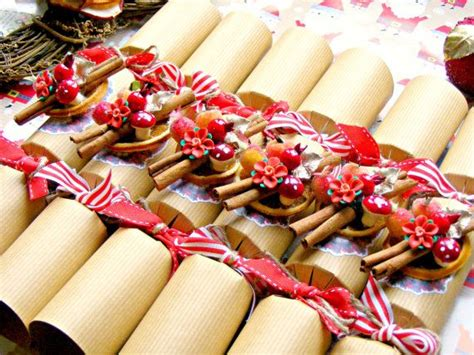 red christmas crackers luxury handmade christmas by