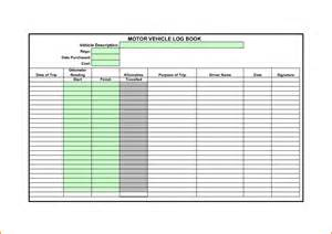 Car Log Book Template motor vehicle log book template khafre