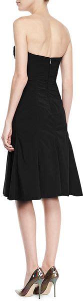 Dress Murah Dress Ricci Navy ricci strapless sweetheart bustier dress in black black navy lyst