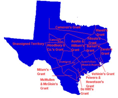 texas land grants map untitled document users humboldt edu
