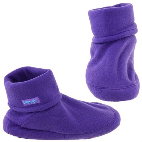 snuggies slippers knit fleece bootie slippers for