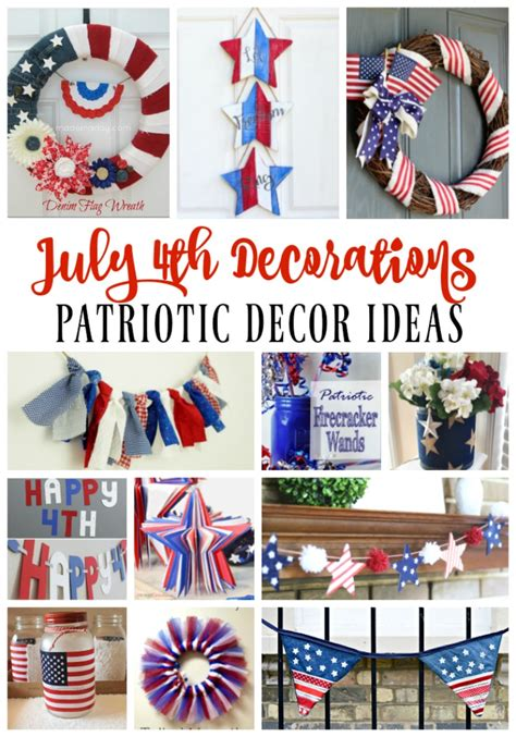 Decorating Ideas For July 4th July 4th Decoration Ideas White Blue Patriotic Decor