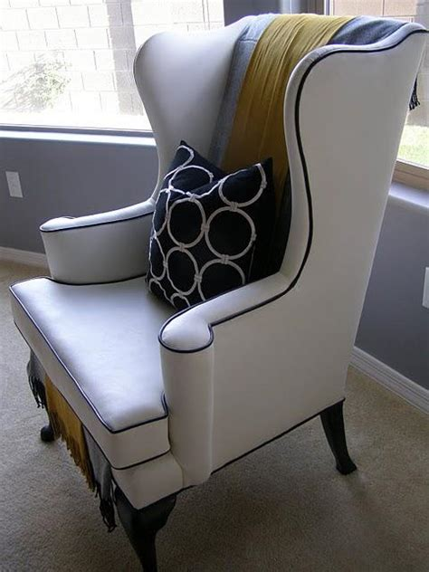 Design Ideas For Chair Reupholstery Reupholstered Wing Back Chair You I M A Fan Of The 252 Ber Trend Of Painting A