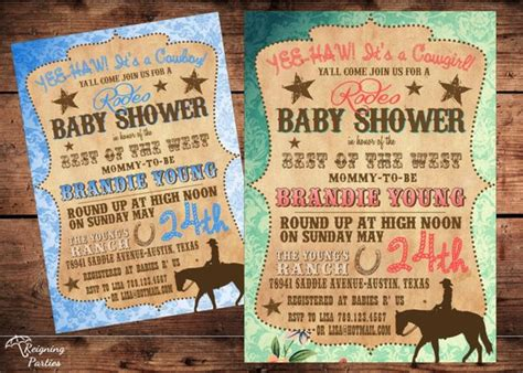 Vintage Western Baby Shower Invitations by Vintage Western Baby Shower Invitation Cowboy