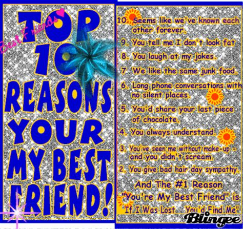the best 10 reasons why you re the best fill in the blank gift books top 10 reasons your my bff picture 83068024 blingee