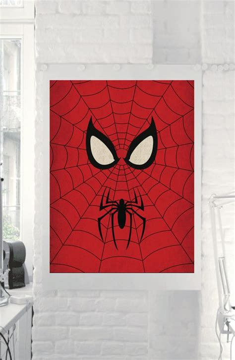 spiderman home decor marvel comic store superheroes minimalist quot spiderman quot art