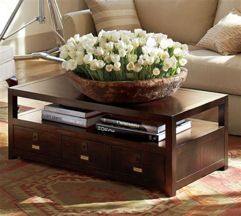 Rhys Coffee Table Espresso Stain Home Sweet Home Pottery Barn Rhys Coffee Table