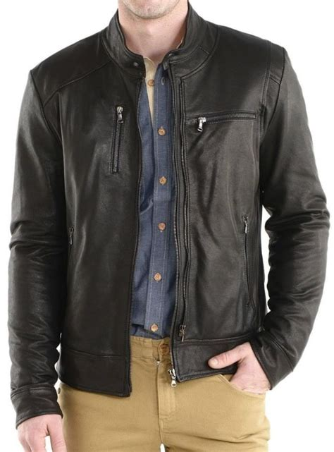 Handmade Leather Jacket - handmade mens fashion leather jacket leather jacket