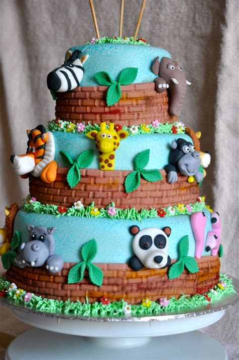 zoo animal cake cakes  kids pinterest zoos zoo