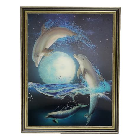 unicorn lenticular 3d picture animal poster painting home dolphin moon lenticular 3d picture animal poster painting