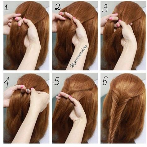 steps for long braids to be put in a bun fishtail braid step by step 1 divide your hair into 2