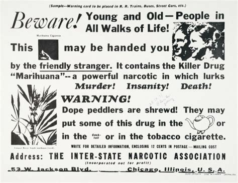 a study of association in insanity classic reprint books inter state narcotic association marijuana warning poster