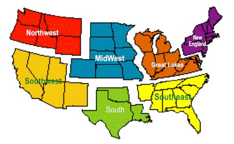 usa map with different states what are the regions of the united states regions of the