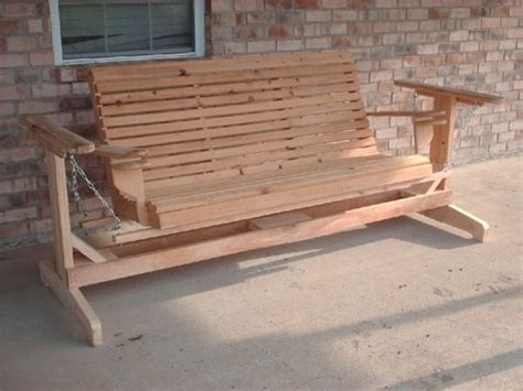 wooden porch glider diy projects to try
