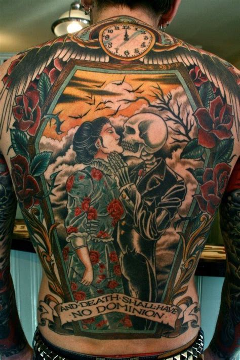 tattoo back death life and death back tattoo ink pinterest