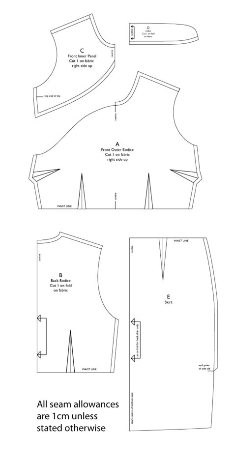 pattern allowances diagram free qipao cheongsam ladies chinese dress pattern
