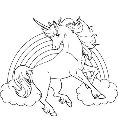 unicorn coloring pages online unicorn horse with rainbow coloring page coloring pages