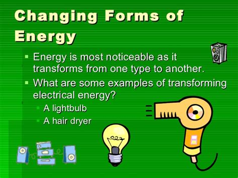 Hair Dryer Energy Transformation ppt conservation of energy