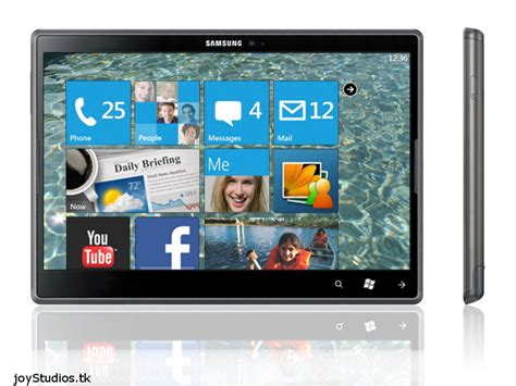 Tablet Samsung Windows 7 Samsung Omnia 7 Tablet Runs Windows Phone 7 Concept Phones