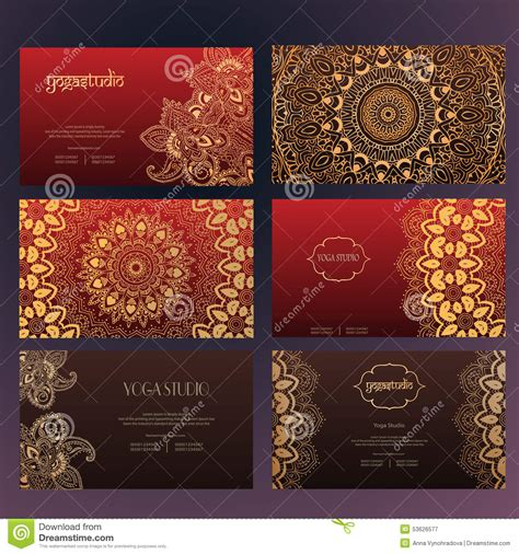 arabic business cards templates mandalas business card 4 stock vector image 53626577