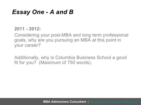 Why Did You Pursue An Mba by Breaking Columbia Business School S 2012 2013