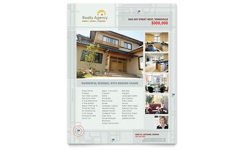 Real Estate Agent Realtor Flyer Template Word Publisher Real Estate Brochure Template Publisher