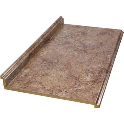 hton bay 8 ft valencia laminate countertop in madura