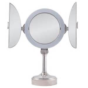 dual vanity mirrors zadro surround lighted tri fold vanity mirror dual sided